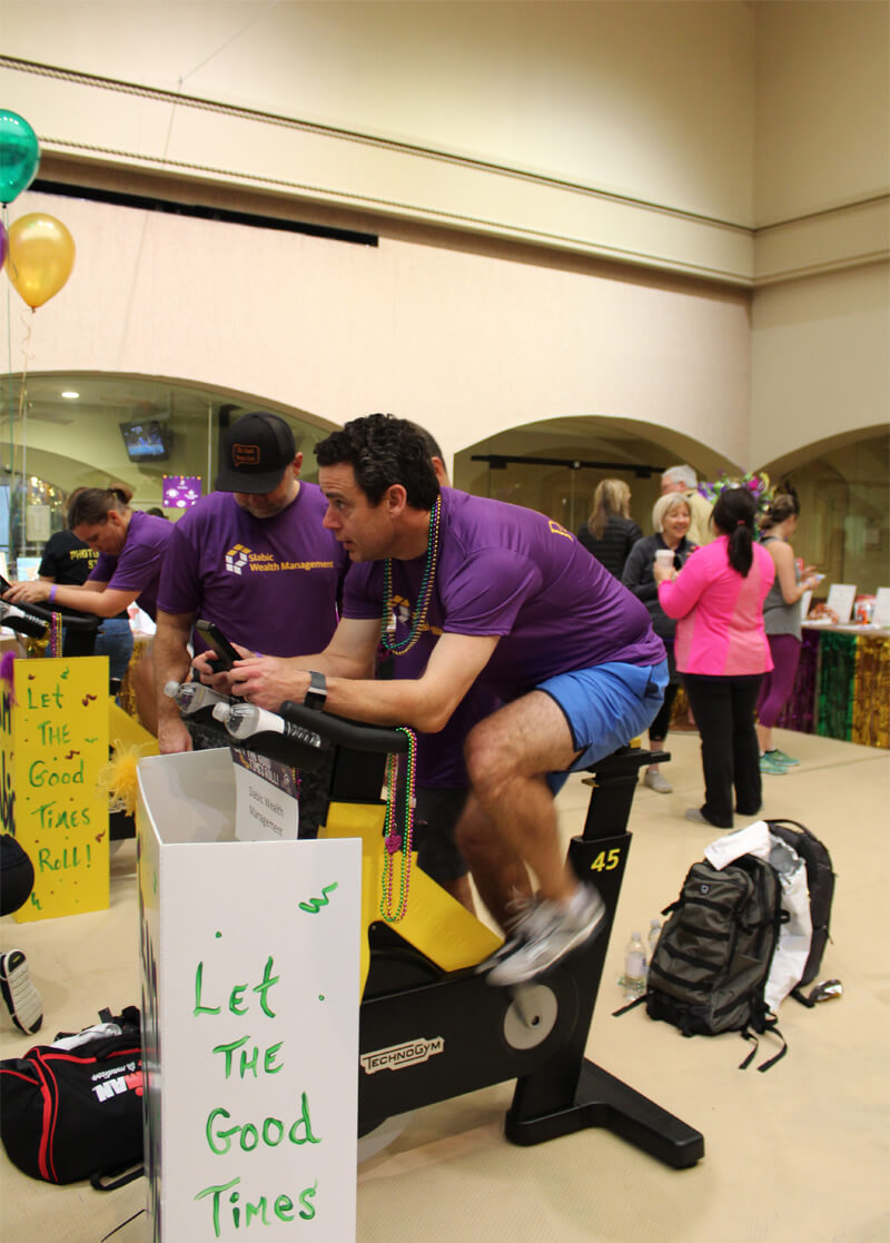 Charity cycling event photo